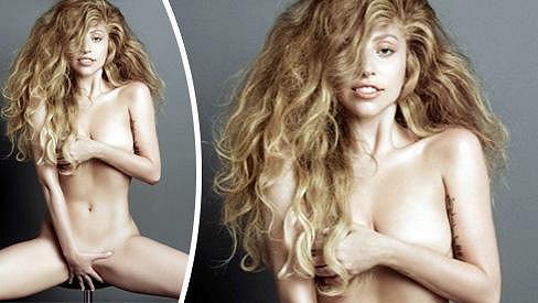 Lady Gaga se nechala zvěčnit zcela nahá.
