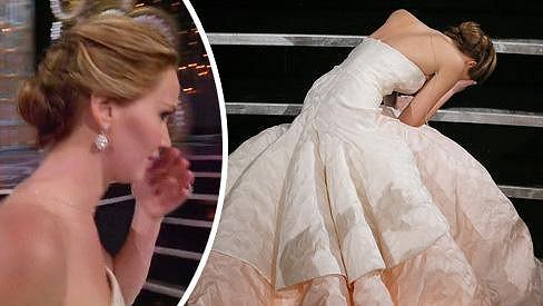 Jennifer Lawrence se opět nerada postarala o zpestření večera.