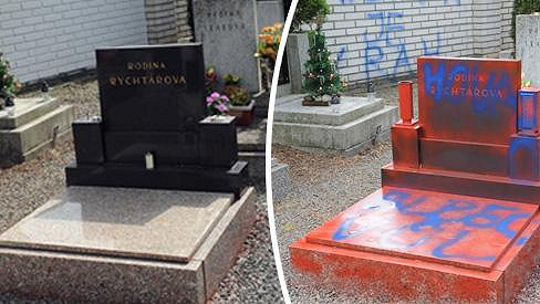 Hrob už nenese po útoku vandala památky.