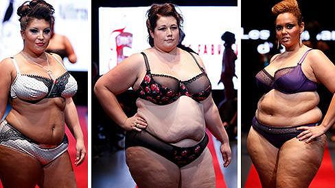 Tyto XXXL samice ovládly módní přehlídku.
