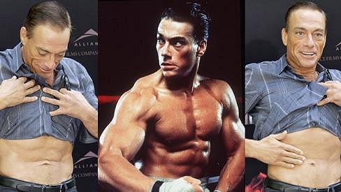 Jean-Claude Van Damme se stále může chlubit svými svaly.