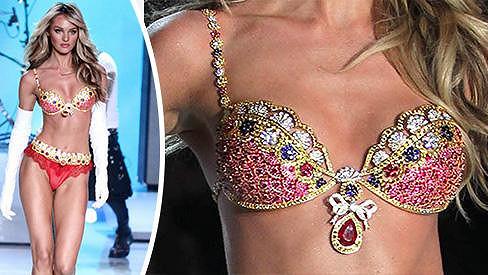 Candice Swanepoel představila luxusní podprsenku.