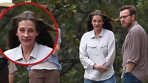 Julia Roberts při natáčení nového filmu.