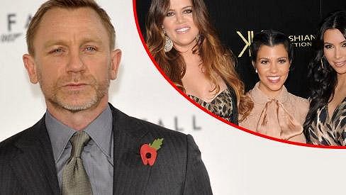Daniel Craig nemá sestry Kardashianovy v lásce.