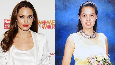Angelina Jolie měla vždy výrazná ústa.