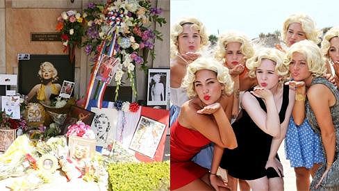 Na 50. výročí úmrtí Marilyn Monroe její fanoušci nezapomněli.
