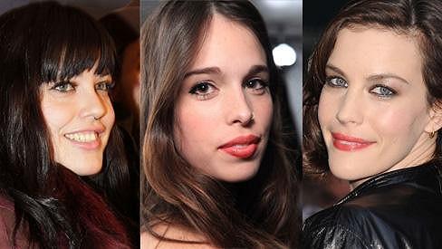 Zleva: Mia Tyler, Chelsea Tyler a Liv Tyler.