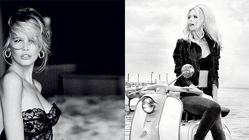 Claudia Schiffer pro značku, která ji proslavila.