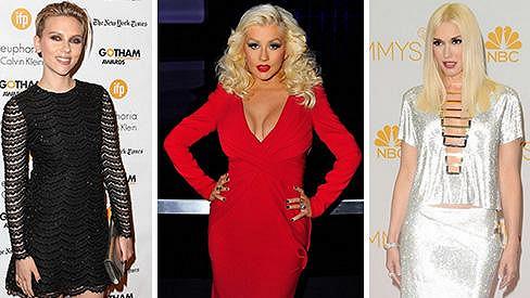 Scarlett Johansson, Christina Aguilera i Gwen Stefani vypadají po porodu skvěle.