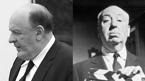 Anthony Hopkins (vlevo) a Alfred Hitchcock.