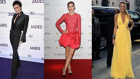 Victoria Beckham, Emma Watson a Blake Lively - královny hvězdných póz.