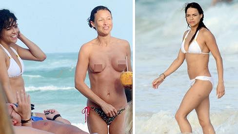 Michelle Rodriguez si užívá dovolenou v Mexiku.
