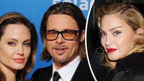 Madonna sní o společném životě s Bradem Pittem.