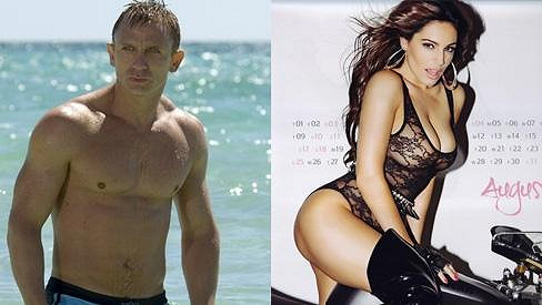 Daniel Craig a Kelly Brook.