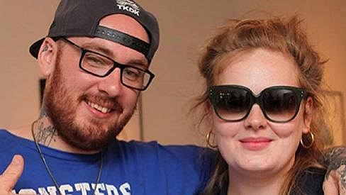 Adele s tatérem Bang Bangem.