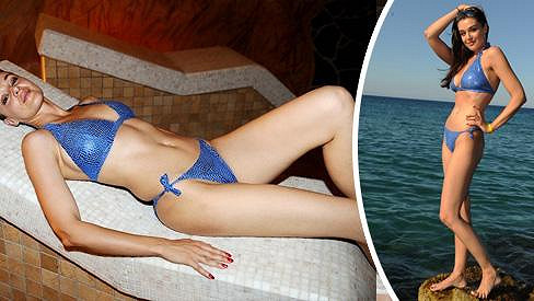 Iva Kubelková vypadá v sexy bikinách naprosto fantasticky.