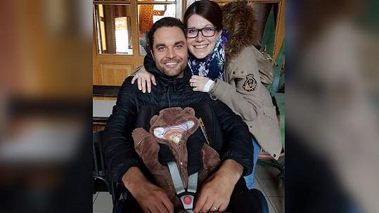 Martin Zach s manželkou Martinou a synem Adrianem