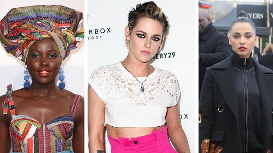 Lupita Nyong'o, Kristen Stewart a Naomi Scott jako noví Charlieho andílci