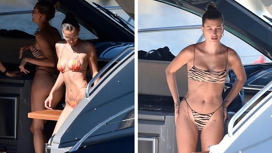 Hailey Bieber a Bella Hadid vyrazily obdivovat krásy Sardinie.