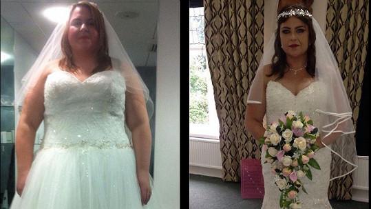 Alex Hill kvůli svatbě zhubla třetinu své váhy.