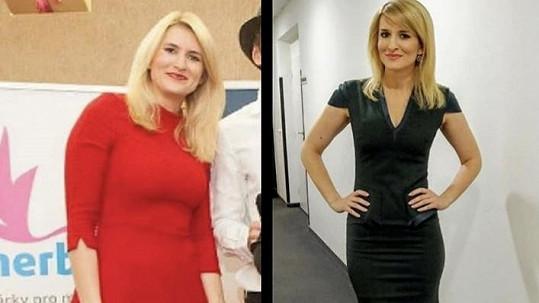 Lenka Špillarová před dvěma lety a nyní