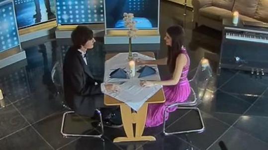 Romantická večeře Terezy a Martina.