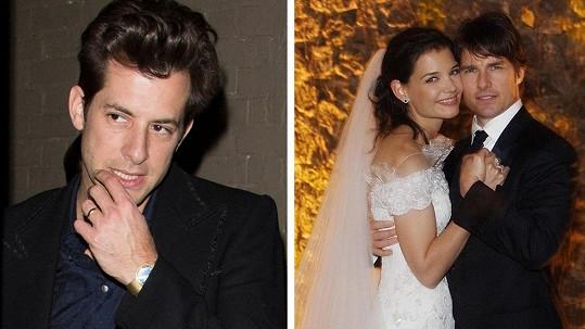 Mark Ronson se na svatbě Toma Cruise a Katie Holmes celkem předvedl.