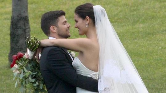 Herecký pár vstoupil do manželství.