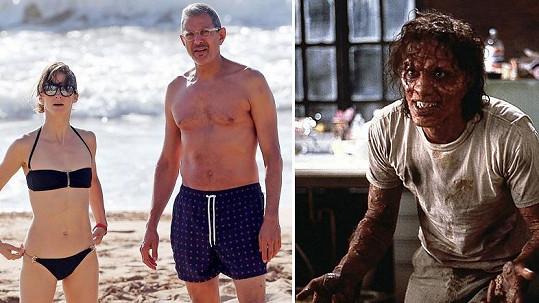 Jeff Goldblum a jeho sexy partnerka.