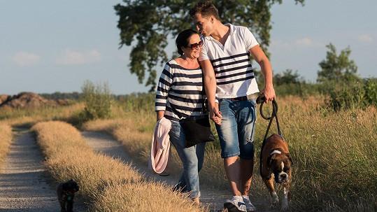 Hana Gregorová a Ondřej Koptík jsou zamilovaní až po uši.