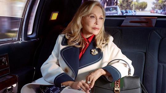 Faye Dunaway v kampani pro značku Gucci