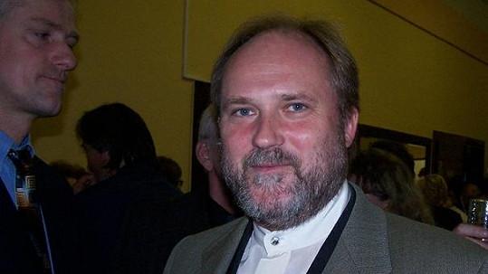 Michal Pešek v roce 2006 na premiéře hry Kachna na pomerančích.