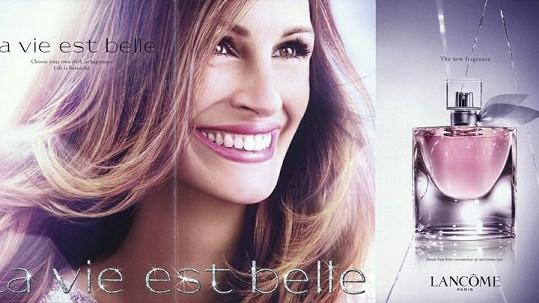 Julia Roberts v kampani značky Lancôme.
