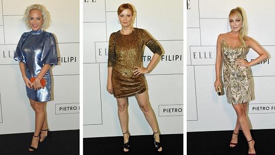 České celebrity se blýskly v modelech ve stylu Klubu 54.