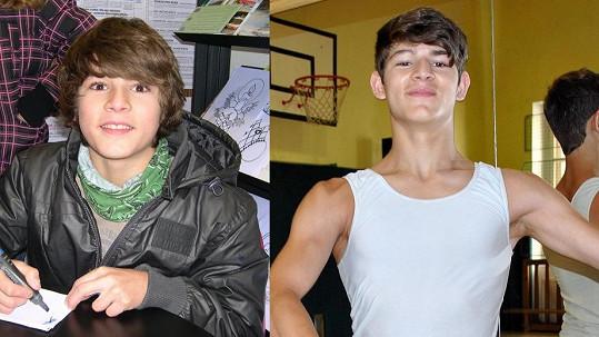 Z okatého klučiny Fandy Šimčíka je v patnácti letech neuvěřitelný hezoun.