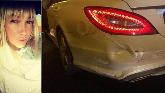 Dominika Mesarošová měla děsivou autonehodu.