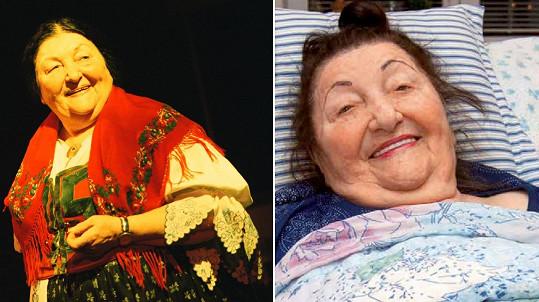 Jarmila Šuláková v roce 2000 a dnes