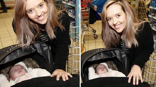 Tamara Klusová vyrazila na nákup s dcerkou Jenovéfou.
