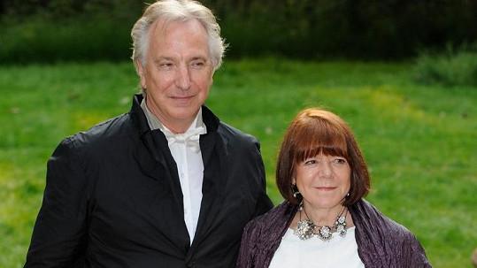 Alan Rickman a Rima Horton po 50 letech vstoupili do manželského svazku.