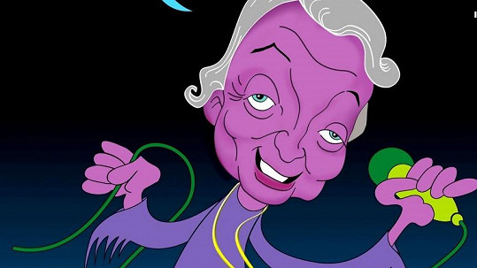 Poznáte ve fialovém mužíkovi nejznámější českou celebritu?