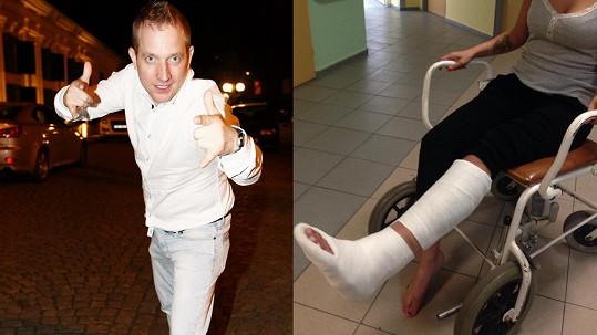 Martin Kocián měl prý najet autem do své expřítelkyně.