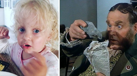 Malá Mia je známému herci velmi podobná.