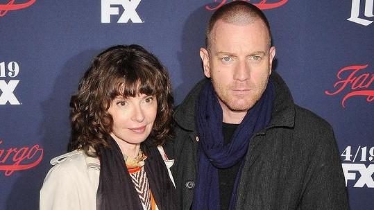 Ewan McGregor s manželkou Evou Mavrakis