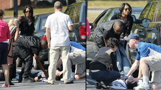 Bobbi Kristina a její snoubenec Nick pohotově zasáhli u bezvládného muže.