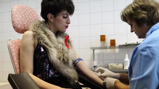 Klára Vytisková na testech HIV.