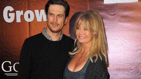 Goldie Hawn se synem Oliverem Hudsonem