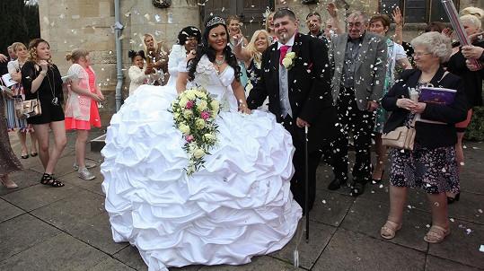 Nevěstu opravdu nikdo nepřehlédnul...