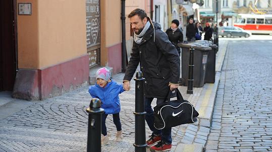 Roman Vojtek s dcerou
