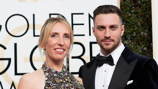 Aaron se svou manželkou Sam