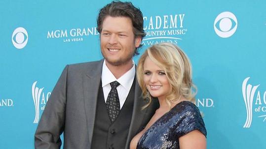 Miranda Lambert tvořila s Blakem Sheltonem pár deset let.